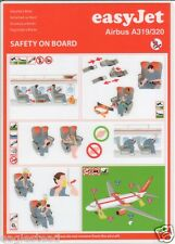 Safety Card - easyJet - A319 A320 - c2009  (S2403)