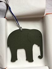 NIB Hermes Petit H Brown/Grey H Elephant Charm Silk Ornament Birkin Kelly