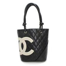 Authentic CHANEL Small Tote Cambon Hand Bag Tote Bag Leather A25166 10103206
