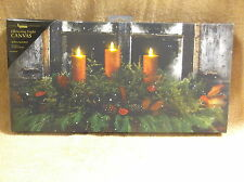 Pine Window Box Christmas Lighted Canvas Wall Decor Sign