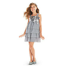 American Girl CL MY AG SILVER SHIMMER DRESS SIZE 8 for Girls Holiday Gown NEW