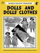 Weldon's 4D #102 c.1935 Vintage Knitting & Crochet Patterns for Doll's Clothes