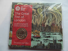 Royal Mint £2 Presentation pack - 350th Anniversary of the Great Fire of London