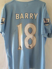 Manchester City 2010-2011 Gareth Barry Signed Football Shirt with COA  /13239