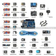NEW 37 in 1 Sensor Modul Kit + UNO R3 ATmega328P CH340 for Arduino Compatible UK