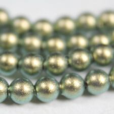 6 pcs Swarovski Element 5810 12mm Ball Crystal Pearl Beads - Iridescent Green