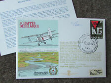 ESCAPE by Air from BELGIUM 1975 Hand Signed  RAF Escaping Society FDC - SEE PICS