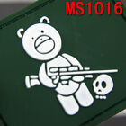 NEW Embroidered Green Airsoft Titus Bear Patch With Velcro Back Patches Soldiers
