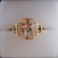 3.19ct Nigerian Morganite & Diamond Gold Ring