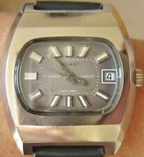 Superb 1960s Gents SS Valiant 17J ST96-4 Mechanical Date Watch Serviced Warranty
