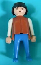 Playmobil 1974 Brown Blue White Cowboy Klicky Man Classic Black Hair to 2 Sets