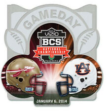 Official 2014 BCS Championship Pin Florida State Seminoles Auburn Tigers Gameday