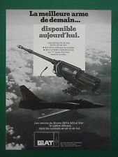 1980'S PUB GIAT ARMEMENTS 30 MM CANNON 553 554 CANON MIRAGE 2000 FRENCH AD