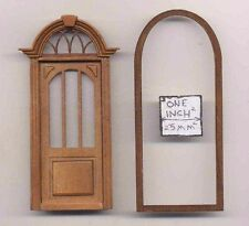 Half 1/24 Scale Door by Bespaq S806NWN Craftsman style dollhouse miniature