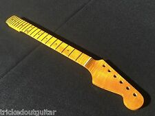 FLAME MAPLE 1 PIECE GUITAR NECK FITS FENDER STRAT STRATOCASTER VINT FINISH #16