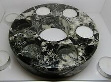 Black granite marble ring tea light candle holder for home & garden fab bbq gift