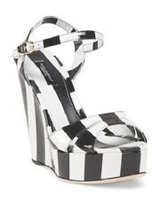NWB DOLCE & GABBANA Made In Italy Leather Wedge Size 37, 39  $995 Sold out!!!!!!