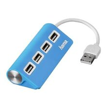 Hama USB 2.0 Hub 4 Way Port Bus-Powered Small FREE POST Pc Laptop Computer Blue