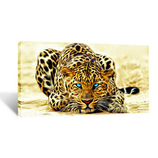 Large snow leopard Canvas 20x40 inchs Wall Art Picture for Any room