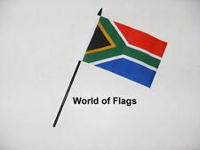"SOUTH AFRICA SMALL HAND WAVING FLAG 6"" x 4""  African Table Desk Crafts Display"