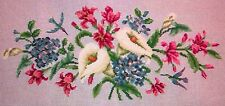 EP 6929 Hummingbird in Flowers Piano Bench Preworked Vintage Needlepoint Canvas
