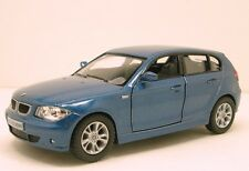 "Kinsmart BMW 1 series 118 120 5 door Hatchback 1:34  5"" diecast model Blue K11"