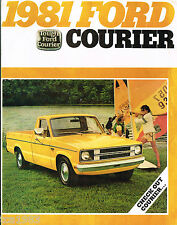 1981 FORD COURIER PickUp Truck Brochure w/Color Chart: XLT, Pick Up