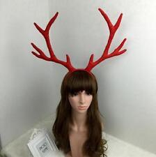 Luxury Xmas Party Adult Reindeer Rudolf Antlers Christmas Cosplay Headband