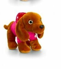 KEEL TOYS WAGS  DOG  IN  PINK  HOODIE SPARKLY EYES BNWT