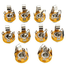 10 Pcs 1/4inch 6.35mm stereo socket/jack female connector panel mount Solder