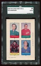 1969 O-Pee-Chee 4-In-1 Proof Hampson/Brewer/DeJordy/Rochefort SGC AUTH 72923-036