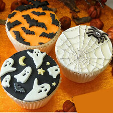 Halloween The Bat Mould Mat Silicone Mold Fondant Cake Cooking Tools Cupcake