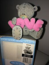 """LARGE 7cm 3"""" HIGH BOXED ME TO YOU FIGURINE TATTY TEDDY BEAR ~ HOLDING MY LOVE"""
