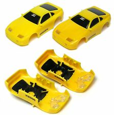 1991 TYCO Nissan 300ZX Test Shot Slot Car Body Lemon & Mango Yellow Versions NOS