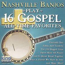 FREE US SH (int'l sh=$0-$3) NEW CD Nashville Banjos: Play 16 Gospel All Time Fav