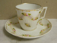 Vintage Meissen Saxe au Point Tea Cup & Saucer Marked w/a Crown & Saxe 1178/192