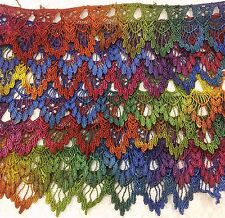 """Venise lace hand dyed rayon 2.25 """" wide sold by yard one of a kind old english"""