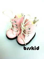 "Y01 BJD Yo-SD 1/6 Dollfie 13"" Effner 12"" Kish Doll Shoes Boot PINK Zip"