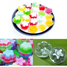 Disposable Plastic Cups Mold Mini Jelly Cake Container Flower Round Shape