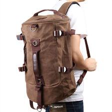 Men Canvas Backpack Rucksack Laptop Shoulder Outdoor Duffle Bag