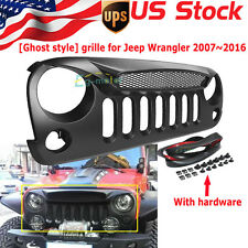 Front Grille Mesh Hood Ghost style Grill for Jeep Wrangler JK Rubicon 07-16 15