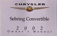 2002 Chrysler Sebring Convertible Owners Manual User Guide Operator Manual Fuses