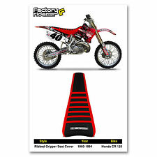 1993-1994 HONDA CR 125 Red/Black/Red RIBBED GRIPPER SEAT COVER BY Enjoy MFG