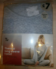 TU THERMALS RANGE - THERMAL LONG SLEEVE T-SHIRT VEST - GREY SIZE 12 BRAND NEW!