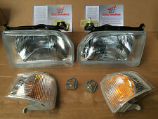 Escort Orion MK4 1986-90 Pair New Headlights & Clear Indicators Left & Right RS