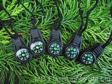 5 X ZIPPER/PULLEY 2CM LIQUID FILLED BUTTON COMPASS SURVIVAL HIKING BUSHCRAFT