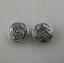 30pcs  Tibetan silver Flower Loose Spacer beads  10x3.5mm