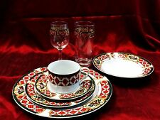 China Christmas Gibson Windsor Holliday Place Setting 7 pieces