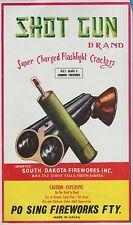 Vintage Shot Gun Brand Firecracker Brick Label