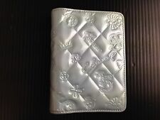 Auth CHANEL Icon line CC Logos Notebook Cover Patent LeatherVintage 5F17S270